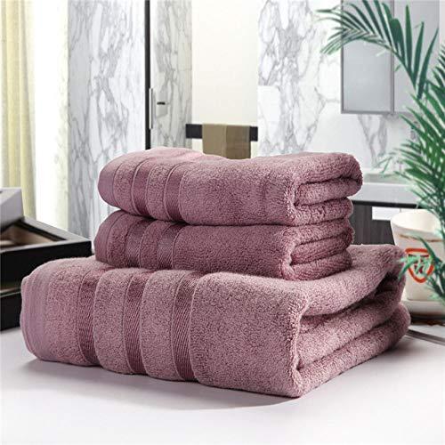 HSIYE,Toalla de Mano,Toalla de baño de Fibra de bambú de 3 Piezas, Ducha de Playa, baño para Adultos, toallita para la Cara, Suave Pro-Piel, servilleta de baño de Alto Grado, púrpura