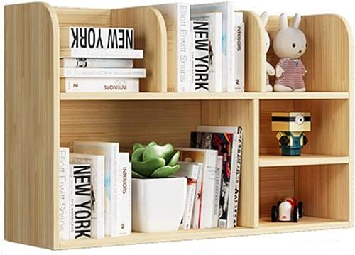 Bücherregal für Massivholz-Multifunktions-St er-Organizer, für Home-Office-Dekor-Anzeige, 4 Grün