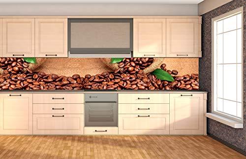 DIMEX LINE Küchenrückwand Folie selbstklebend KAFFE | Klebefolie - Dekofolie - Spritzschutz für Küche | Premium QUALITÄT - Made in EU | 350 cm x 60 cm
