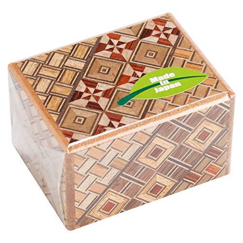 箱根寄木細工 秘密箱 パーツのスライドで開く立体パズル 箱根伝統工芸品 (2寸5回)