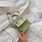 ZYD Mini Bolso de Mano Cuadrado Bolso de Hombro Bolso de Mensajero Bolso de Embrague Bolso de Mujer Monedero Bolso de Mensajero Mujer, Verde Nuevo, 16cm6.5cm14cm