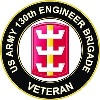 Military Vet Shop U.S. Army 130th Engineer Brigade Veteran Window Bumper Sticker Decal 3.8
