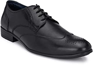 Park Avenue Solid Black Coloured Men Synthetic Formal Shoes