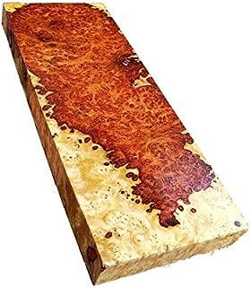 Briskly41 Amboyna Burl Caps Lumber Exotic Live Edge Wood Gun Grips Pen Blanks Knife Scales Handle