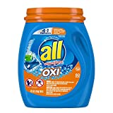 all Mighty Pacs Laundry Detergent 4 In 1 With Oxi, Tub, 60 Count