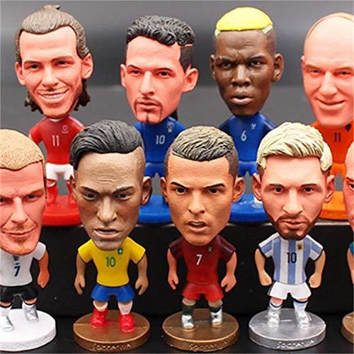 DXR 1 STÜCK Fußballspieler Star Modell Spielzeug Statuetten Messi Ronaldo Neymar Action Puppen Figur Fußball Fans Geschenk Für Heimtextilien, C. Ronaldo
