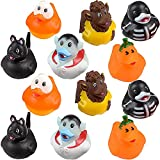 The Dreidel Company Halloween Rubber Duck Toy Duckies for Kids, Bath Birthday Gifts Baby Showers Summer Beach and Pool Activity, 2