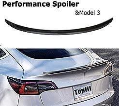 Topfit For Tesla Model 3 Carbon Fiber Spoiler Trunk Lip Wing Rear Wing Lid ABS Performance For Tesla Model 3 Accessories