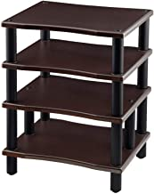 Monolith 4 Tier Audio Stand XL - Espresso, Open Air Design, Each Shelf Supports up to 75 Lbs, Perfect Way to Organize AV C...