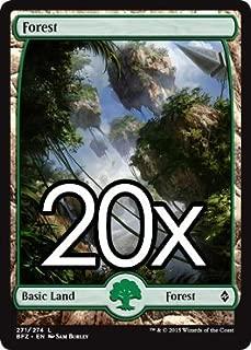 20 Battle for Zendikar Forest #271 Magic the Gathering FULL ART Basic Land Lot