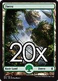 Cool Stuff Inc., LLC 20 Battle for Zendikar Forest #271 Magic The Gathering Full Art Basic Land Lot