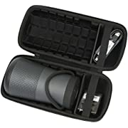 Khanka Travel Case For Bose SoundLink Revolve+ Bluetooth Speaker, Triple Black ( Fits Charging Cradle )