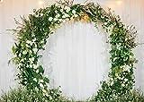 Daniu Wedding Telón de fondo al aire libre Flor Boda Arco floral Decoración romántica Foto de fondo para sesiones fotográficas de fiesta Amantes adultos Studio Photo Booth Props