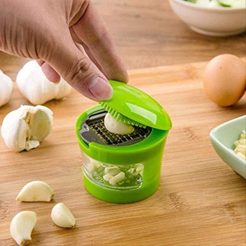 IANSISI Drehbarer Gemüseschneider Mini Tragbare Abs Edelstahl Knoblauch Press Chopper Slicer Hand Presser Grinder Crusher Küchenwerkzeug