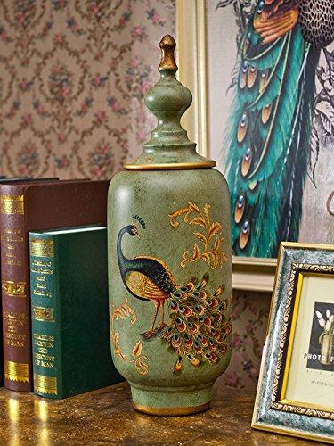 QARYYQ Amerikaanse Antiek Keramische Locker Europese Theepot Woonkamer Wijnkast Sieraden Thuis Accessoires Ambachten