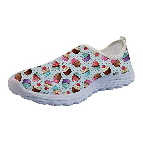 Coloranimal Leichte Sommer-/Strand-/Wasser-Sandalen zum Überziehen für Frauen, flache Sneakers, - Cake Decorator Cupcake - Größe: 40 EU