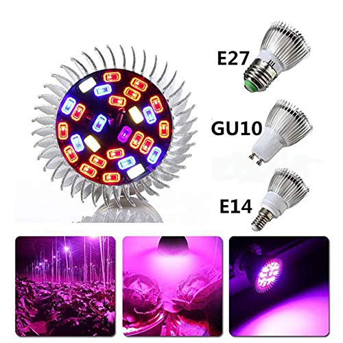 Viktion 5730SMD GU10 28 LED Pflanzenlampe Vollspektrumlicht Pflanzenlicht LED Growlicht Pflanzen-Wachstumslampe