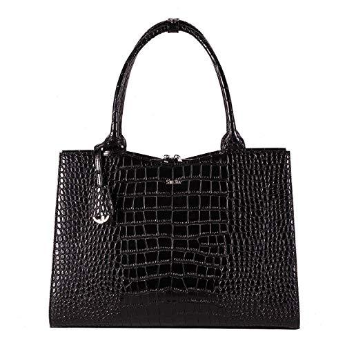 "Socha Businessbag Croco 14-15.6\"" Crocodile Jet Black"