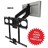 MantelMount MM540 Pull Down TV Mount Above Fireplace For 44-80 TVs Over Mantel [並行輸入品]