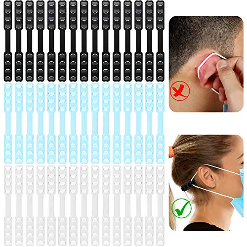 45 Pieces Adjustable Strap Extender Ear Strap Extension Non-Slip Ear Hook Extension Buckle Multicolor Extender Belts for Ear Protection