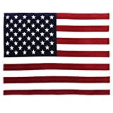 Oversized USA Flag Fleece Throw Blanket, 60 inch x 80 inch Red/White/Blue