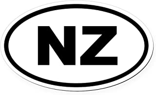 CafePress New Zealand NZ Oval Car Magnet Oval Car Magnet, Euro Oval Magnetic Bumper Sticker