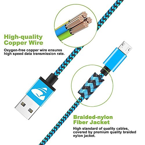 Micro USB Kabel, Aioneus 3Pack 2M Lang Micro USB Ladekabel Schnellladekabel Android Handy Ladekabel für Samsung Galaxy S7 S6 Edge S5 J3 J4 Plus J5 J6 J7 Note 5 Tablet, Sony, Nokia, Huawei, Nexus, PS4