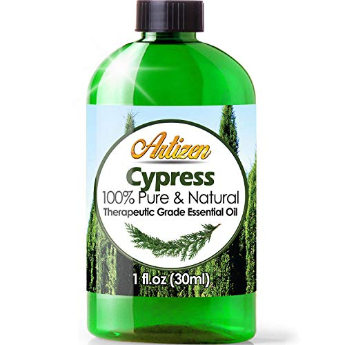 Artizen Cypress Essential Oil (100% Pure & Natural - UNDILUTED) Therapeutic Grade - Huge 1oz Bottle - Perfect for Aromatherapy, Relaxation, Skin Therapy & More!