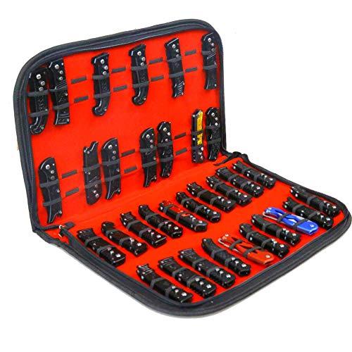 QEES - Estuche expositor para cuchillos, bolsa de almacenamiento de herramientas