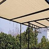KKJKK Rectángulo Paño de la Cortina Protector Solar Sol Vela de la Cortina Toldo de Protección Solar Pabellón Cubiertas de Invernadero para Al Aire Libre Jardín Planta Pérgola Patio,Beige,5x8m