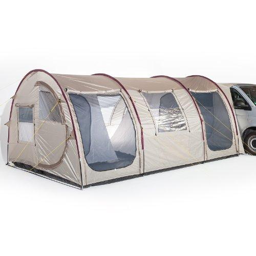 Skandika Esbjerg Travel vrijstaande boekoment, met vast ingenaaide tentbodem en 2 slaapcabines voor in totaal 4 personen