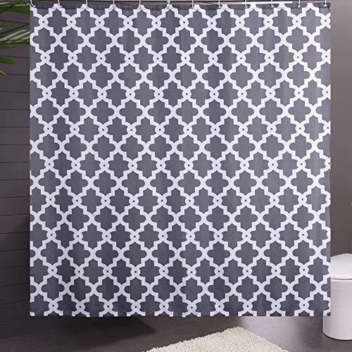 QAQ Sterrenhemel 100% Polyester Douchegordijn Grijs Geometrische Gedrukt Waterdicht Anti-Statische Huishoudelijke Badkamer Gordijnen
