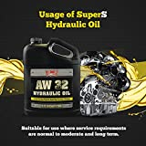 SuperS S Anti-Wear AW32 Hydraulic Oil for Log & Wood Splitters, Gear & Compressor Oil- Rust & Corrosion Protection- 1 Gallon