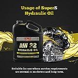 SuperS S Anti-Wear AW32 Hydraulic Oil for Log & Wood Splitters, Gear &...