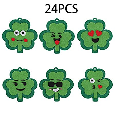 GTN Tech St. Patrick Day Craft Kit for Kids - Shamrock Emoji Gift Party Favors Classroom School Decorations Supplies 24Ct