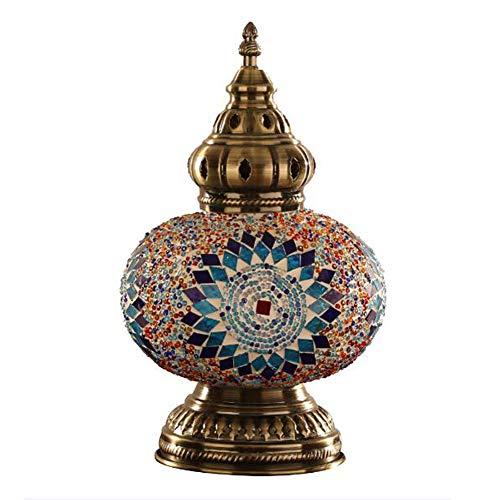 XXCC Escritorio Lámpara de Mesa de Mosaico marroquí turca de Cristal de...