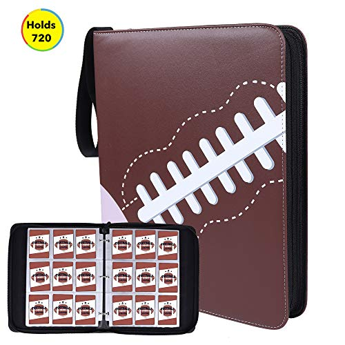 NeatoTek Double Sided 40 Pages 720 Pockets Football Card Binder for Football Trading Cards, Display Case with Football Card Sleeves Card Holder Protectors Set for Football Card and Sports Card
