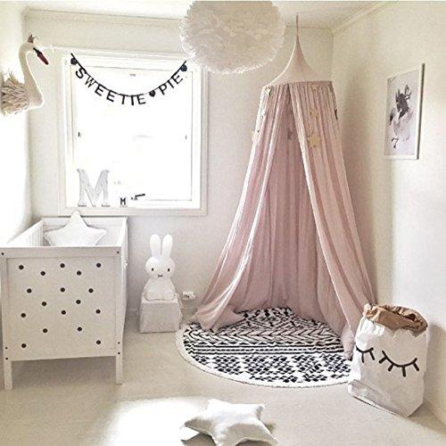 Ruimin Moustiquaire dôme en coton et lin de princesse pour chambre d'enfant, 240 cm