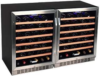 Edgestar 106 Bottle Built-In Side-by-Side Wine Cooler