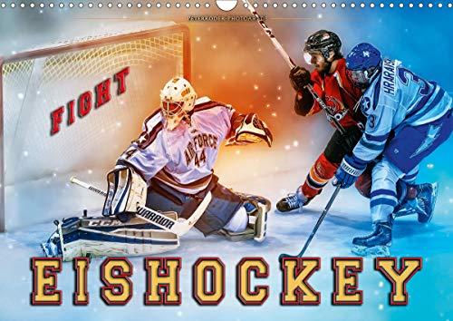 Eishockey - Fight (Wandkalender 2020 DIN A3 quer)