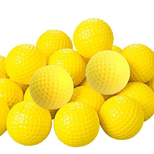 Romote 20 Pcs Jaune PU Balles de Golf en Mousse éponge élastique Formation Pratique en Plein air...