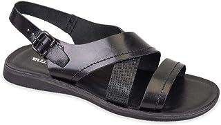 Sandalo In Valleverde Pelle Uomo Nera CxoerBd