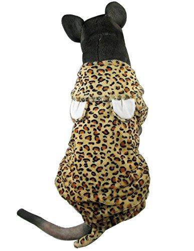 Selmai Medium Dog Costume à capuche Chien Vêtements pour femme/mâles Imprimé léopard Pyjama combinaison pour chien