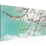 Pintura Mural Sakura Flores 1 parte Moderno Cuadro Lienzo no Tejido Sala Corredor Los Motivos Japoneses Flor De Cerezo 020012b