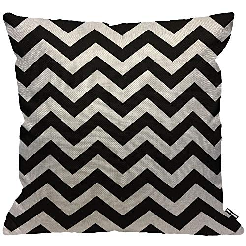 HGOD DESIGNS Cushion Cover Chevron Hipster Boho Chic Aztec Tribal Mexican Texture Zigzag Throw Pillow Cover Home Decorative for Men/Women/Boys/Girls living room Bedroom Sofa Chair 18X18 Inch