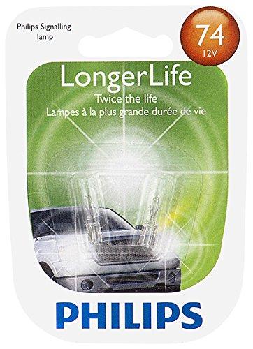 Philips 74 LongerLife Miniature Bulb, 2 Pack