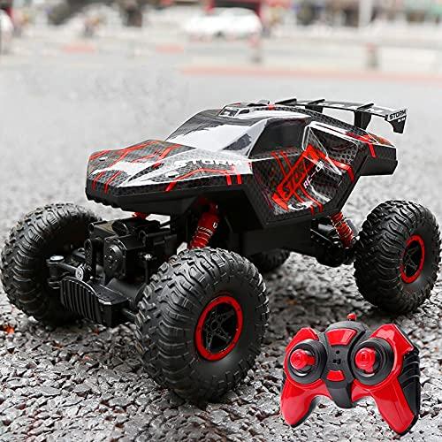 Kikioo 1:14 Aleación Escalada Velocidad Buggy Spray Resistente a caídas 2.4G 4WD Control remoto Coche con faro Monster Truck Vehículo utilitario deportivo Cumpleaños Navidad Día de los niños Regalo Ad