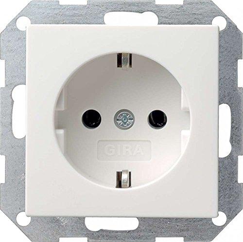 Preisvergleich Produktbild Gira Steckdose SCHUKO 046627 o. Kralle System 55 rw matt,  250 V,  Weiß
