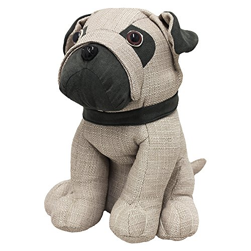 Riva Home Pug Door Stop Multi, Polyester, Mehrfarben, One Size