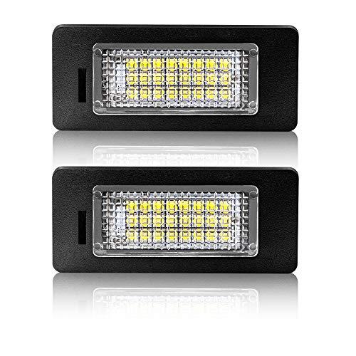 Safego LED Kennzeichenleuchte Glühbirnen Nummernschildbeleuchtung Lampe 2835 SMD 6000K Xenon Weiß 12V für A-d-u-i Q5 A1 A4 A5 A6 A7 TT RS5, 2 Stück, 1 Jahr Garantie